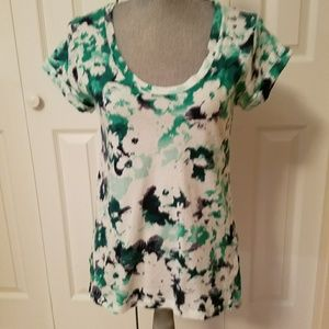 Like new blue and green floral tee